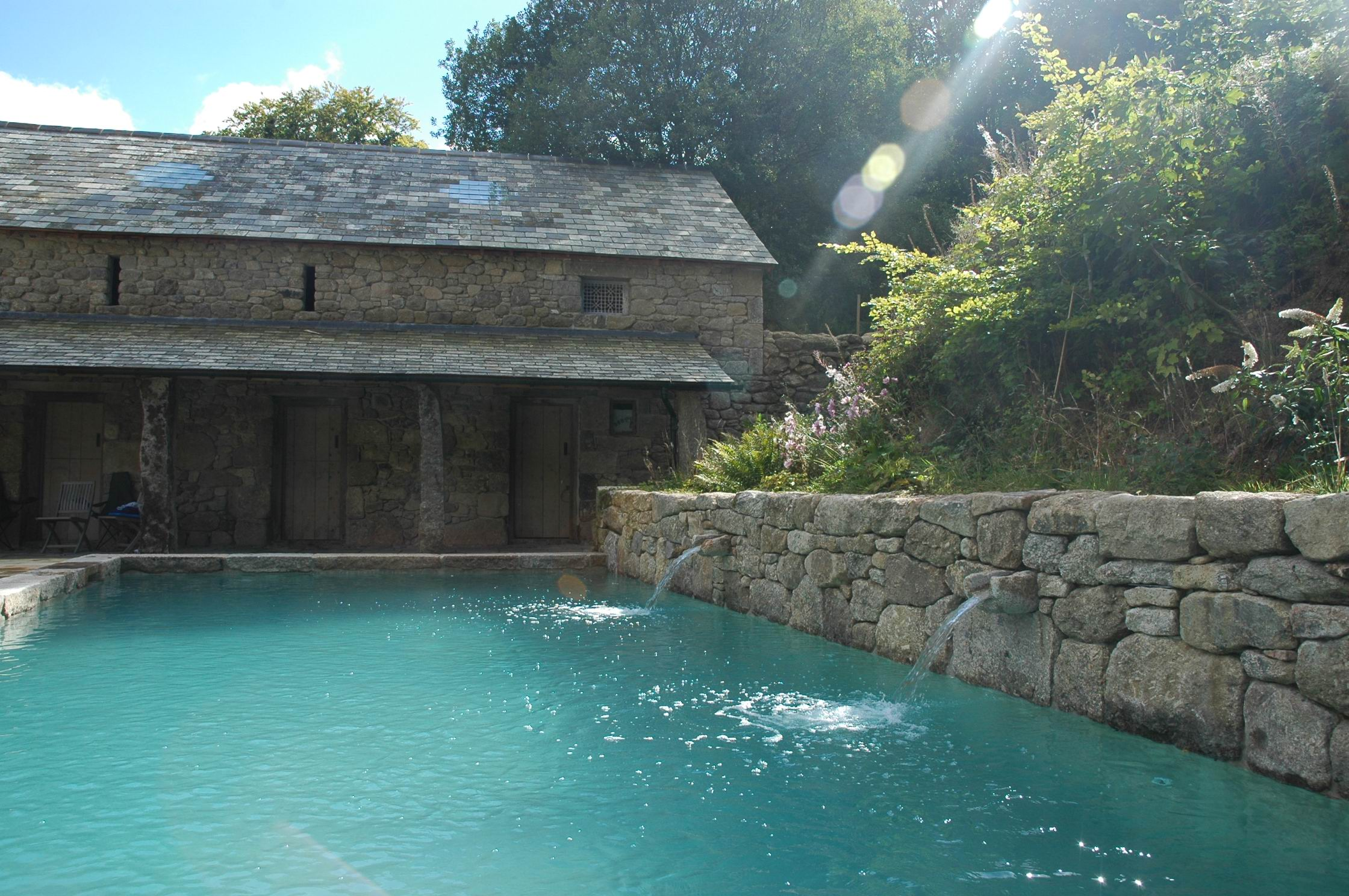 Pool and Barn Sun light